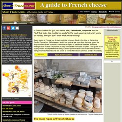 French cheese - Cheeses of France - a short guide