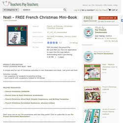 Noël - FREE French Christmas Mini-Book by For French Immersion