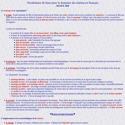 French Cinema Vocabulary