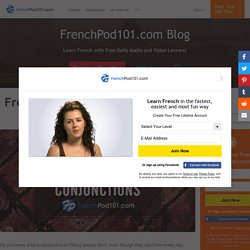 French Conjunctions: List of French Linking Words