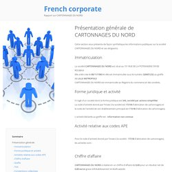 French Corporate - CARTONNAGES DU NORD