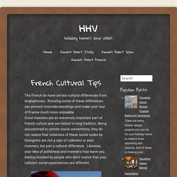 French Cultural Tips ~ HHV