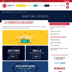What can I do with a French degree?