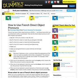 How to Use French Direct Object Pronouns