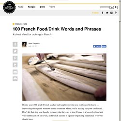 100 French Food/Drink Words and Phrases - Food Republic