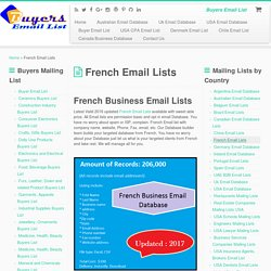 French Email Lists - Buyer Email Lists for Sale