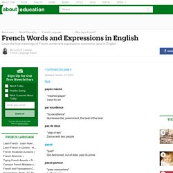 French Expressions Used in English