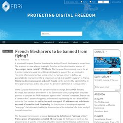 French filesharers to be banned from flying?