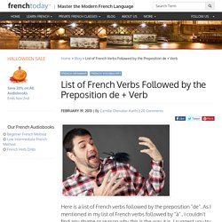 List of French Verbs Followed by the Preposition de + Verb