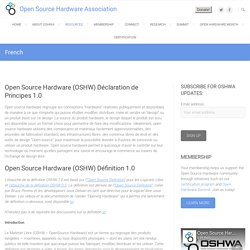 French – Open Source Hardware Association