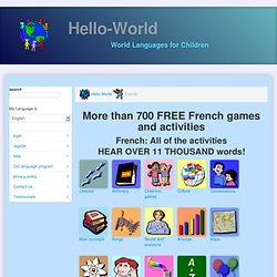 Learn French and have fun with games, activities, and dialogs