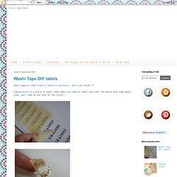 Washi Tape DIY labels