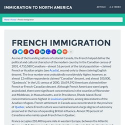 French immigration » Immigration to North America