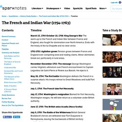 The French and Indian War (1754-1763): Timeline