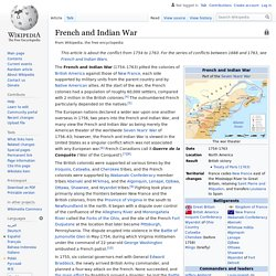French and Indian War - Wikipedia