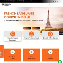 Join French Language Course in Delhi