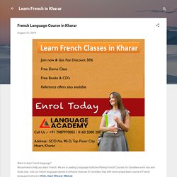 French Language Course in Kharar