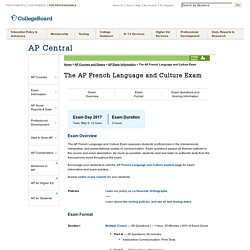 The AP French Language and Culture Exam