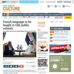 French language to be taught in UAE public schools