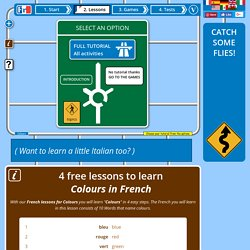 4 French lessons to learn Colours free online with audio