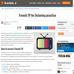 French TV for listening practice - Kwiziq French Blog