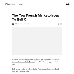 The Top French Marketplaces To Sell On
