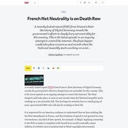 French Net Neutrality is on Death Row