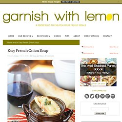 Easy French Onion Soup - Garnish with Lemon
