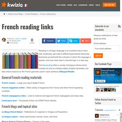 French reading links - Kwiziq French Blog