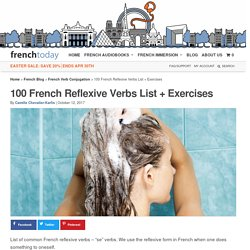 100 French Reflexive Verbs List + Exercises