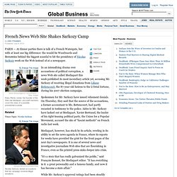 French News Web Site Shakes Up Sarkozy Camp