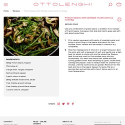 Haricots verts aux shiitake, muscade et cerfeuil