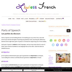 French Parts of Speech - Lawless French Grammar
