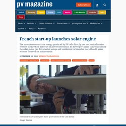French start-up launches solar engine