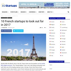 10 French startups to look out for in 2017