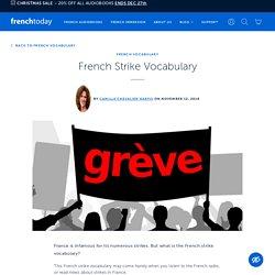 French Strike Vocabulary