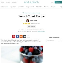 Perfect French Toast IHM **