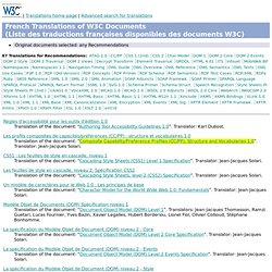 French Translations of W3C Documents