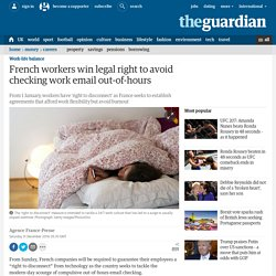French workers win legal right to avoid checking work email out-of-hours
