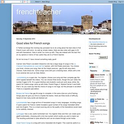 Good sites for French songs