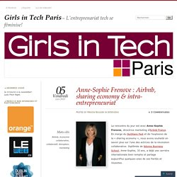 Anne-Sophie Frenove : Airbnb, sharing economy & intra-entrepreneuriat