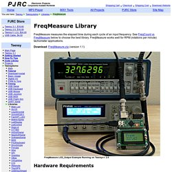 FreqMeasure Library, for Measuring Frequencies in the 0.1 to 1000 Hz range, or RPM Tachometer Applications