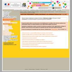 Questions fréquemment posées concernant les journaux d'école et de collège - Journaux et magazines scolaires et lycéens - Productions médiatiques scolaires