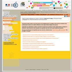 FAQ Journal Ecole et Collège