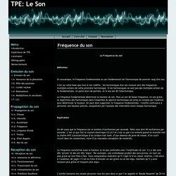Fréquence du son - TPE: Le Son