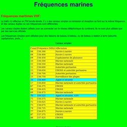 Frequences maritimes