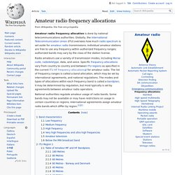 Amateur radio frequency allocations - Wikipedia