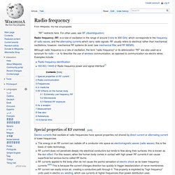 Radio frequency