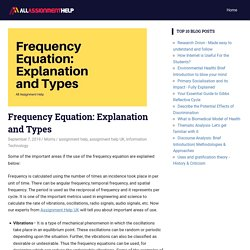 Frequency Equation: Explanation and Types