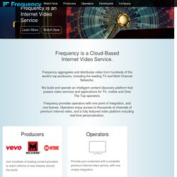 Frequency - Personal Video Service - Social Video, Popular Channels, Personal Video Feeds
